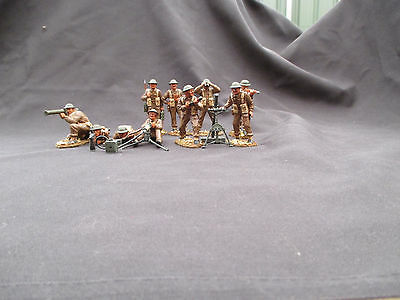 Airfix /matchbox 1/32 British infantry support  WW2 pro painted collectables