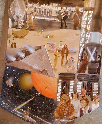 1977 Star Wars: A New Hope Full Roll of Movie Wall Paper Extremely Rare Disney