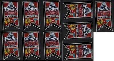 2017 Winter Classic Pins Lot Of 10 Chicago Blackhawks St. Louis Blues Puck Style
