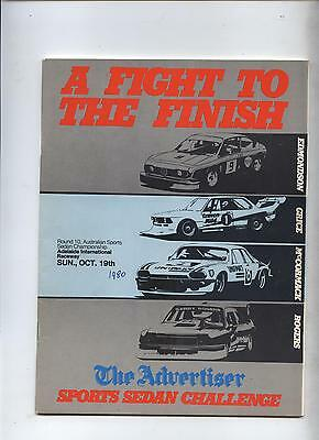 1980 Adelaide Programme Touring Racing Sports Ford Holden Program