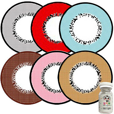 CRAZY Coloured Contact Lenses Kontaktlinsen Color Contacts Lens Color 1 Year Use