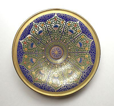 "Fine Bohemian 12"" Antique Persian Style Enameled Glass Bowl, Lobmeyr or Moser ?"