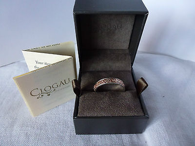 Clogau Gold, Silver & 9ct Rose Gold Celtic Eternity Ring, size K RRP £129