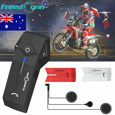 1000M Bluetooth Interphone BT Motorcycle Helmet Intercom Headset NFC + FM Radio
