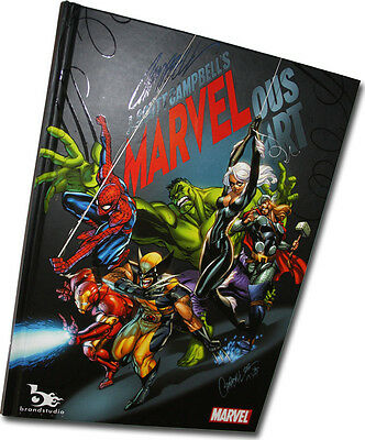 MARVELous Hard Cover By J Scott Campbell HTF New Limited Marvel