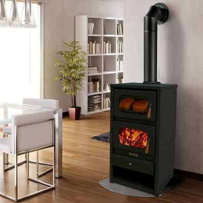 Wood Burning Stove with Oven Log Burner Cooking Fireplace Solid Fuel METALIK13kw
