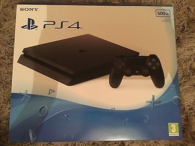 Sony Playstation 4 PS4 500GB Jet Black (Empty Box Only) Packaging Excellent cond
