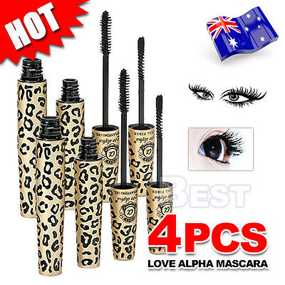 4X Natural Fibre Mascara Brush False Eyelashes LOVE ALPHA Transplanting Gel Set