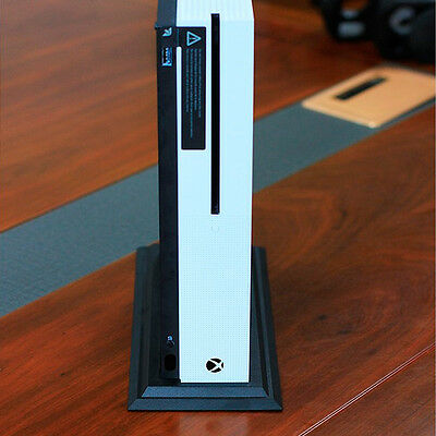 For Microsoft Xbox One S Console Durable Black Vertical Stand Dock Mount Holder