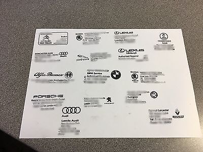 5 X garage Car service stamp history book Vw Merc BMW TODAYS OFFER