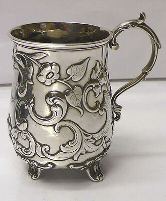 Antique Colonial Silver Mug 1880 stock id 6777
