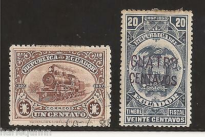 1898 & 1907 Ecuador Stamp  Fine Used  See Scan For Back And Front