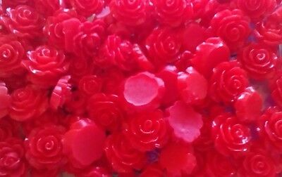 1.49 for 25 mixed red rose flower cabochons , crafts, cardmaking