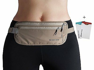 Premium Money Belt Expert Travel for Women and Men with Rfid Blocking and 2 Card