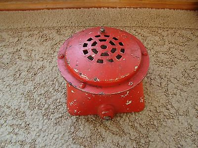 Vtg STEAMPUNK Edwards and Company Horn Security Fire Alarm Bell BUZZER 311 - D