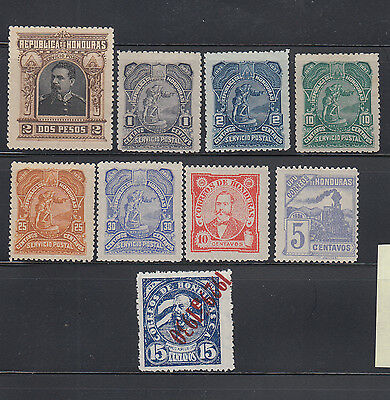 Honduras 1891-1929  Unused Collection
