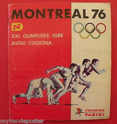 Panini Montreal 76 Original Album Full Complete Olympic Games Very Rare Edition