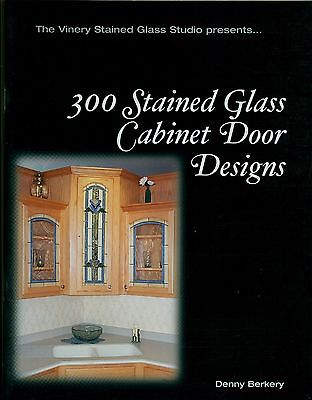 300 Stained Glass Cabinet Door Window Designs Book, Bevel Victorian Prairie more