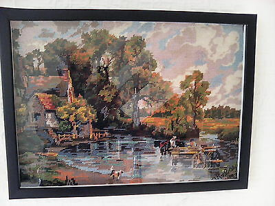 Framed Vintage Tapestry 'the Hawain' John Constable