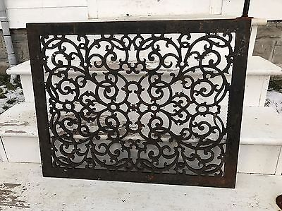 Antique Victorian Heavy cast Iron Cold Air Grate Register Return Large