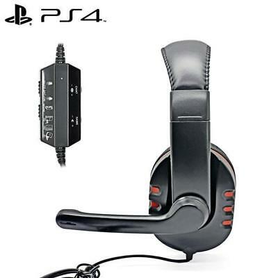 iProtect Gaming Headset für Sony PlayStation 4 Schwarz/Rot