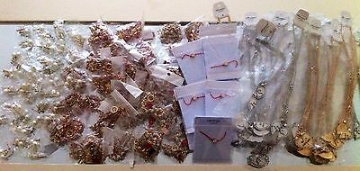 job lot of over 100 necklaces bracelets and earrings all brand new and packaged