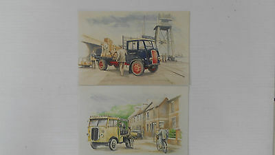 2 X  Thorneycroft Lorries Postcards