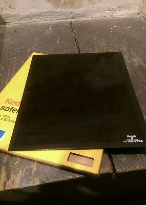 "Kodak safelight glass filter 10"" x 12"" #8 cat 152 1772 amber darkroom vintage"