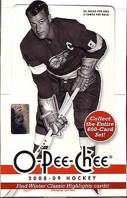 OPC O-Pee-Chee 2008-09 Complete Master Set 1-600 + Inserts