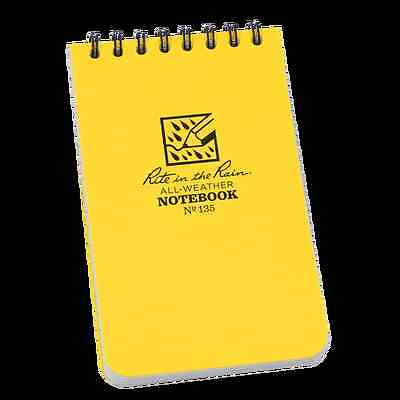 """RITE IN THE RAIN No135 ALL WEATHER NOTEBOOK/NOTEPAD  3"""" X 5"""" BUSHCRAFT SURVIVAL"""