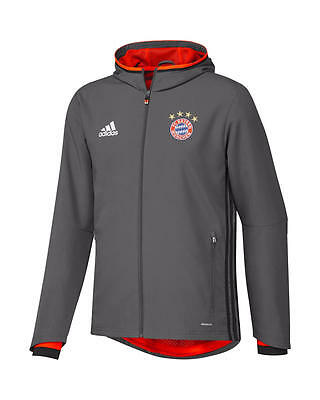 Bayern Munchen Adidas Training Jacket Grey 2016 17 Presentation ZIP POCKETS
