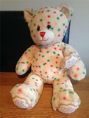 Build A Bear Factory Rare Christmas Cookie Bear & Cookie