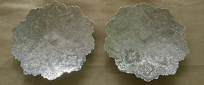 Fine Persian Islamic Solid Silver Hand Chased Hallmarked Dish Isfahan Iran