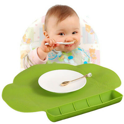 Food-Grade Baby Childs Silicone Placemat Suction Plates Dinning Table Mat