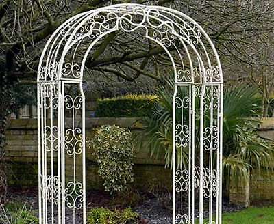 Raina ornate metal arch - for garden and ceremony