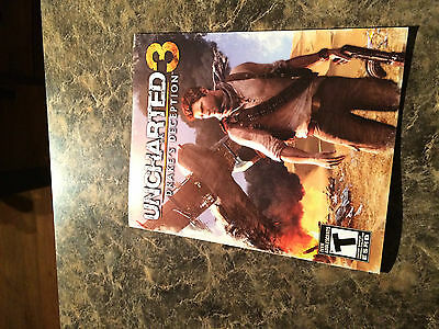 Uncharted 3 - Playstation 3  - Instruction Manual Only