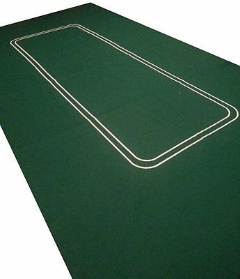 NEW Poker Texas Hold'em Layout 6FT Table Top Green Mat Pad Portable Felt Cover
