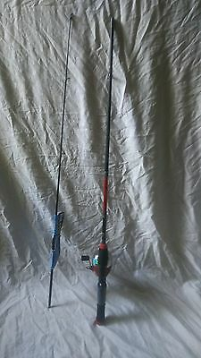 "Shakespeare Synergy Steel Spincast 5'6"" Light Rod & Reel Fishing Pole Combo"