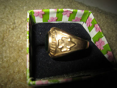 10K Gold Filled Orig Vintage GIRL SCOUTS of AMERICA Ring / Very Nice Condition /