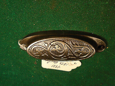 Vintage 1873 Eastlake Drawer / Bin Pull - Cast Steel  (4931)