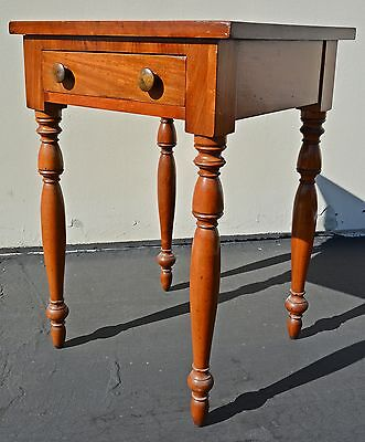 Antique Sheraton Table Work Stand Cherry Mahogany Early American federal 19th c.