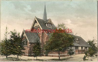 Printed Postcard Of St. Paul's Church, Camberley, (Near Woking), Surrey.