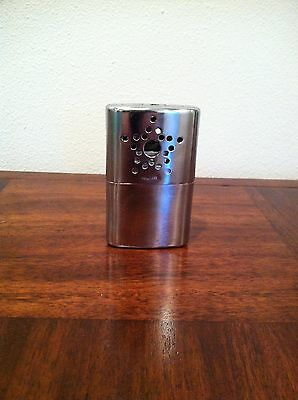 """Vintage HAND WARMER Tin Made In Hong Kong Stainless Steel 2.25"""" x 4"""" STAR"""