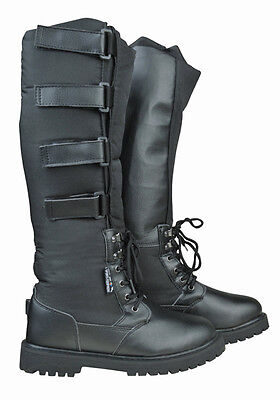 HKM Alaska Thermo Long Horse Riding Winter Boots Black Adjustable Insulated