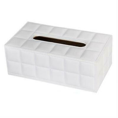 Rectangular Leather Wooden Tissue Box Holder Cover Car Hotel Decor 4 Patterns