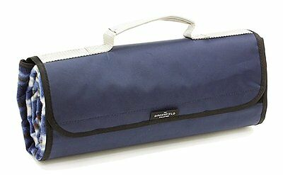 Greenfield Collection Lightweight Fully Lined Picnic Blanket - Midnight Blue