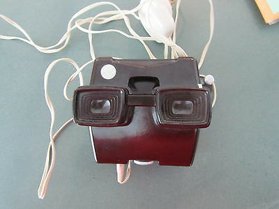 View-Master UNRESTORED Dark Brown Model D Electric Lighted Viewer Ultra Rare