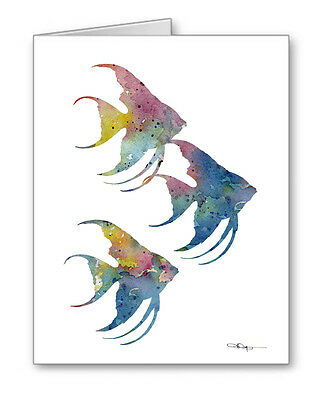Angelfish Note Cards With Envelopes