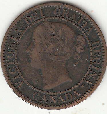1859 N9 Victoria Large Cent F 12