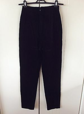 Womens Vintage Anthea Crawford Black Velvet Tailored Size 6